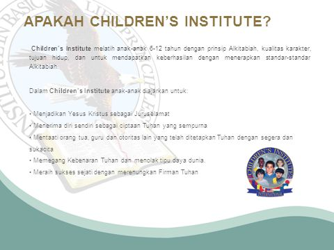 APAKAH CHILDREN'S INSTITUTE