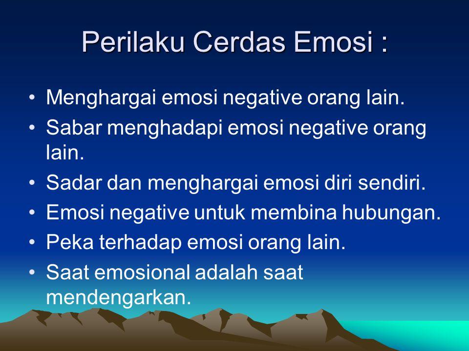 Perilaku Cerdas Emosi :
