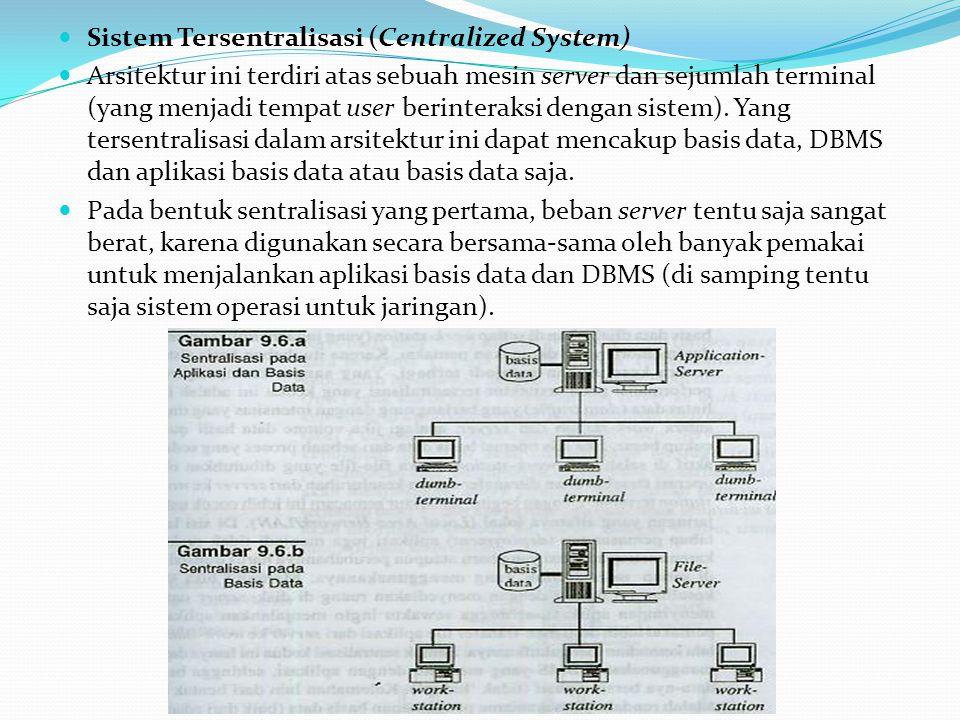 Sistem Tersentralisasi (Centralized System)