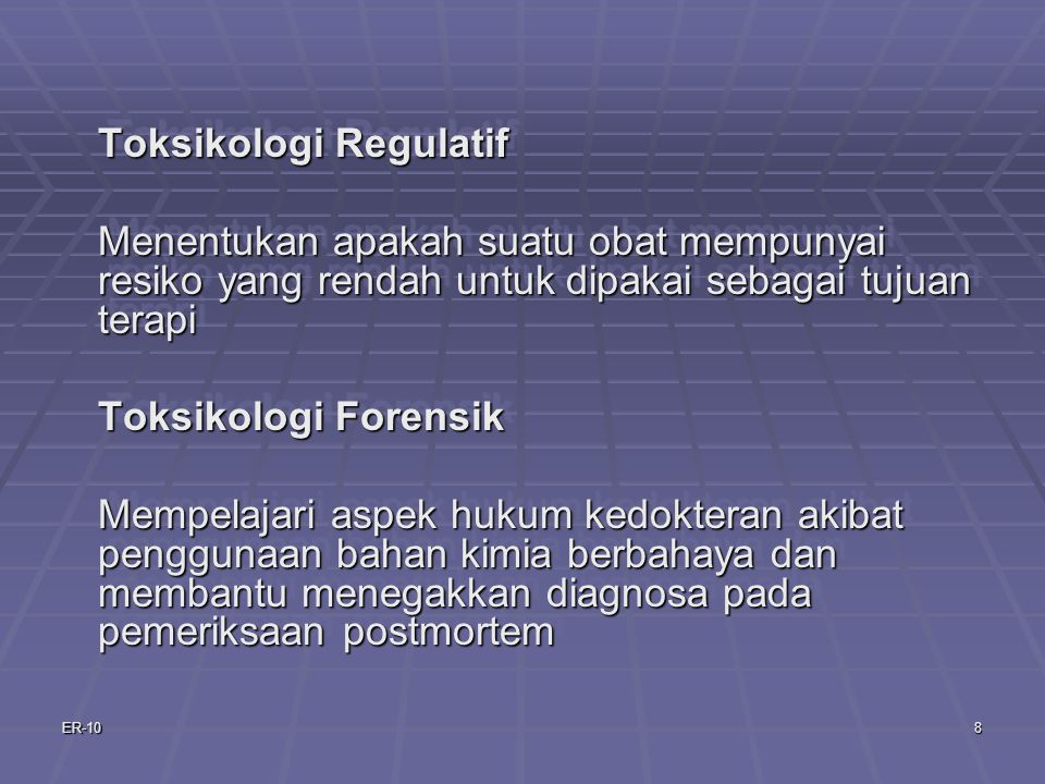 Toksikologi Regulatif
