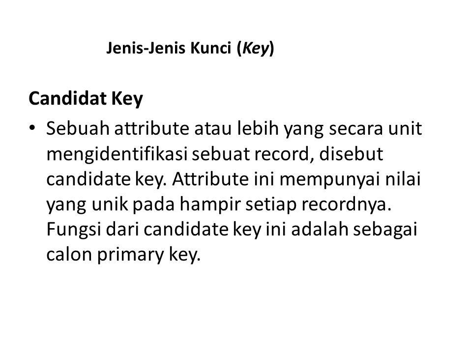 Jenis-Jenis Kunci (Key)