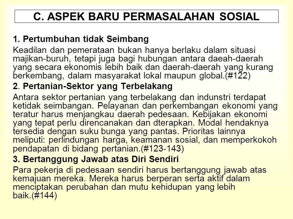 C. ASPEK BARU PERMASALAHAN SOSIAL