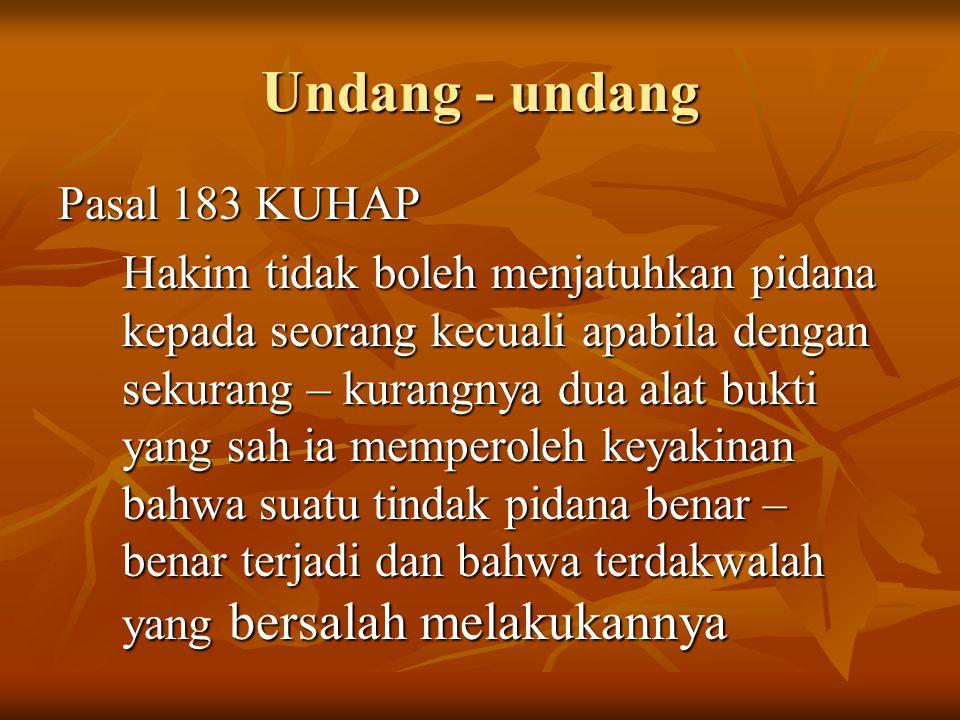 Undang - undang Pasal 183 KUHAP