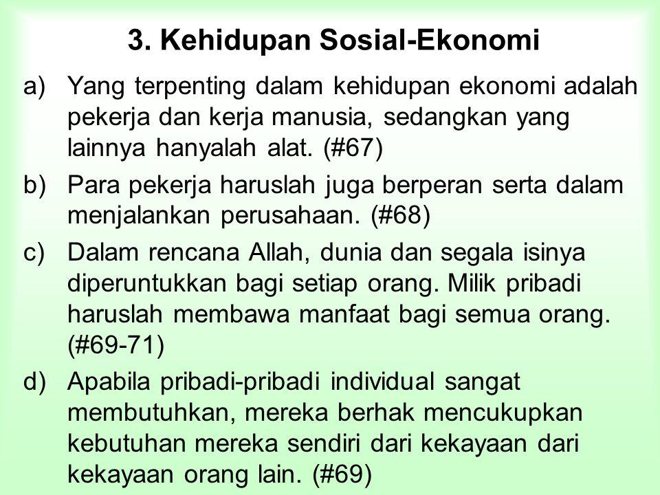 3. Kehidupan Sosial-Ekonomi