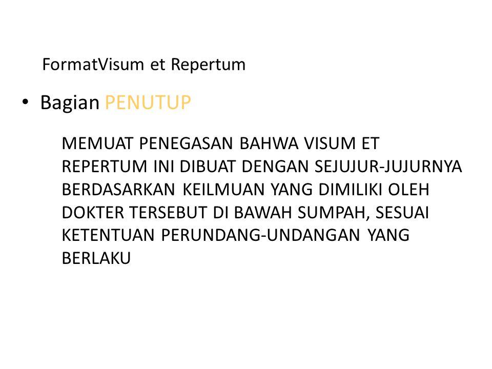 FormatVisum et Repertum