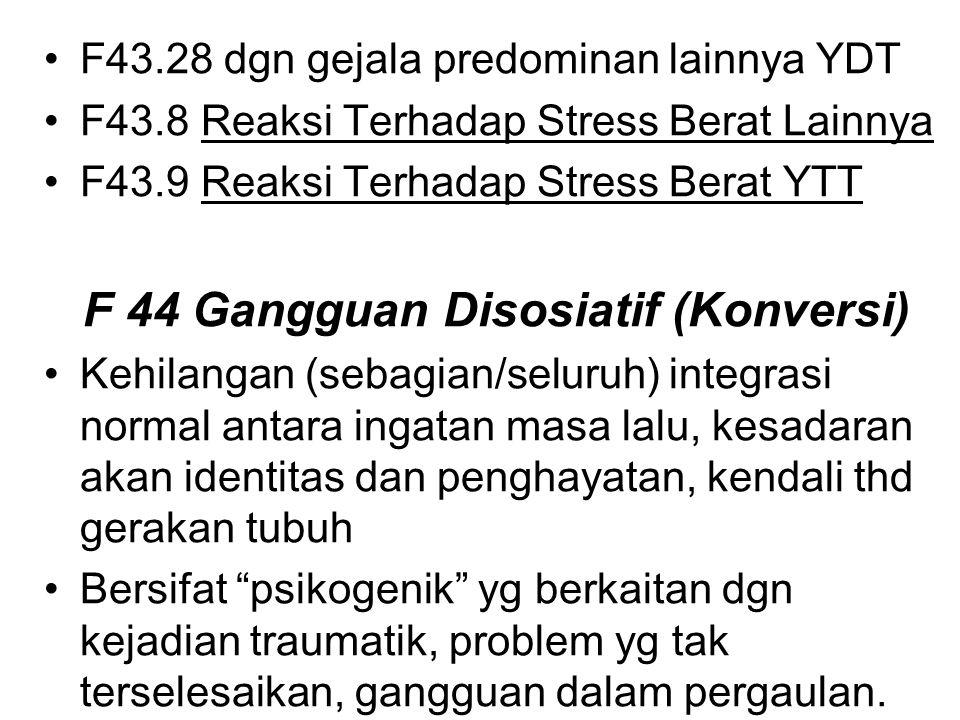 F 44 Gangguan Disosiatif (Konversi)
