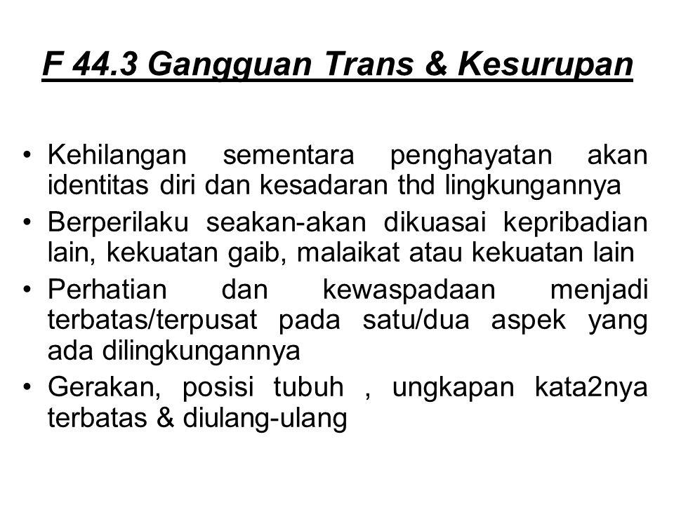 F 44.3 Gangguan Trans & Kesurupan