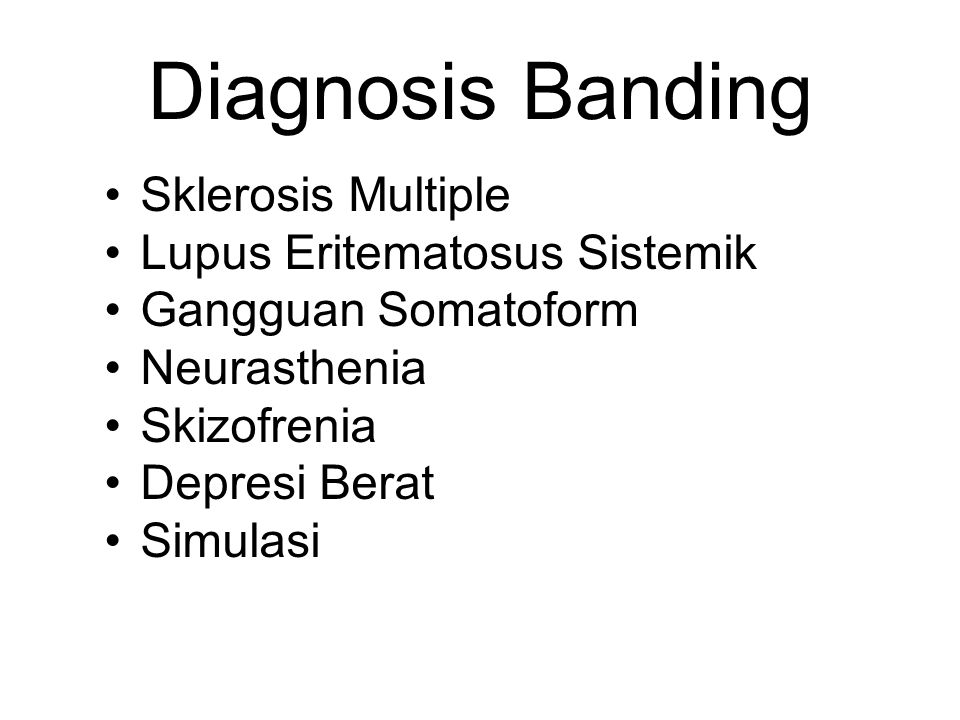 Diagnosis Banding Sklerosis Multiple Lupus Eritematosus Sistemik