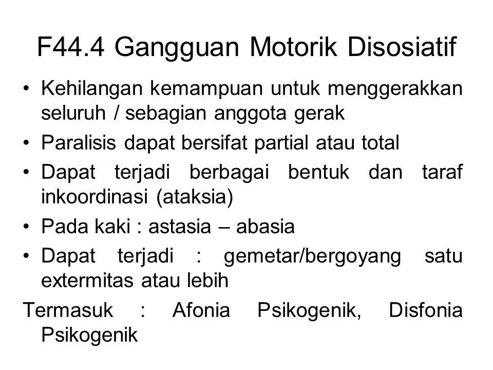 F44.4 Gangguan Motorik Disosiatif