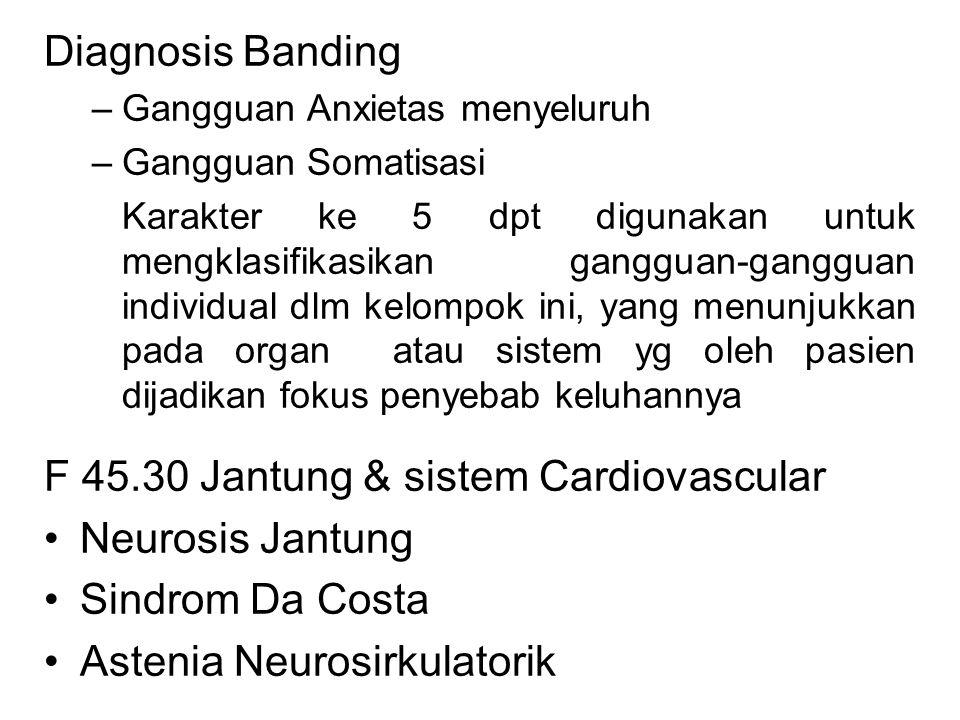 F 45.30 Jantung & sistem Cardiovascular Neurosis Jantung
