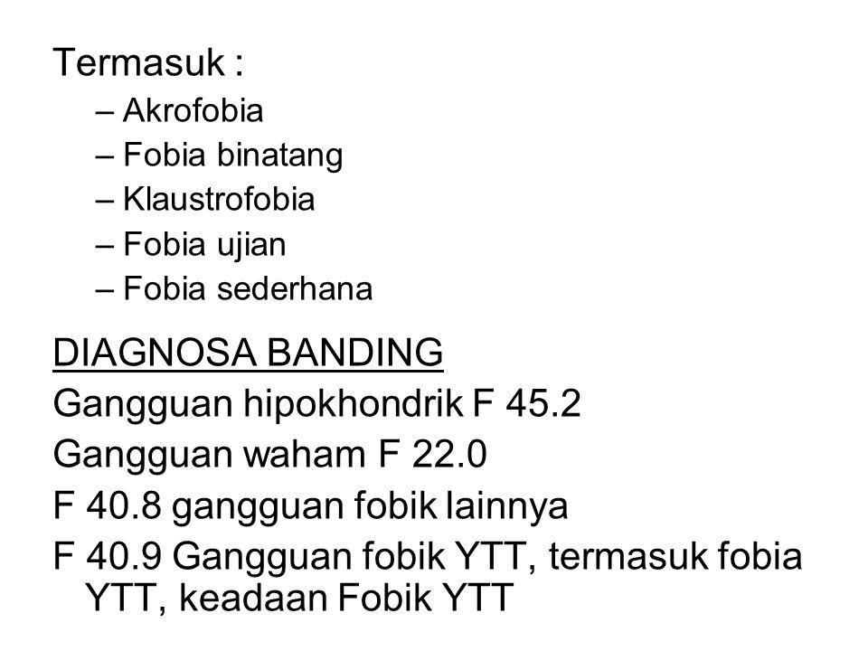 Gangguan hipokhondrik F 45.2 Gangguan waham F 22.0