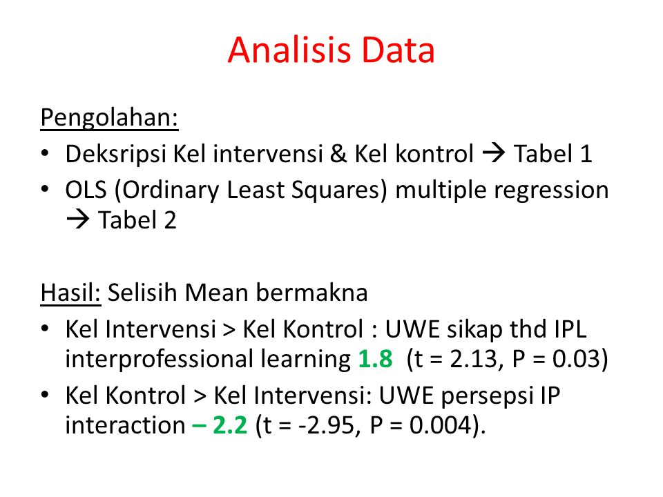 Analisis Data Pengolahan: