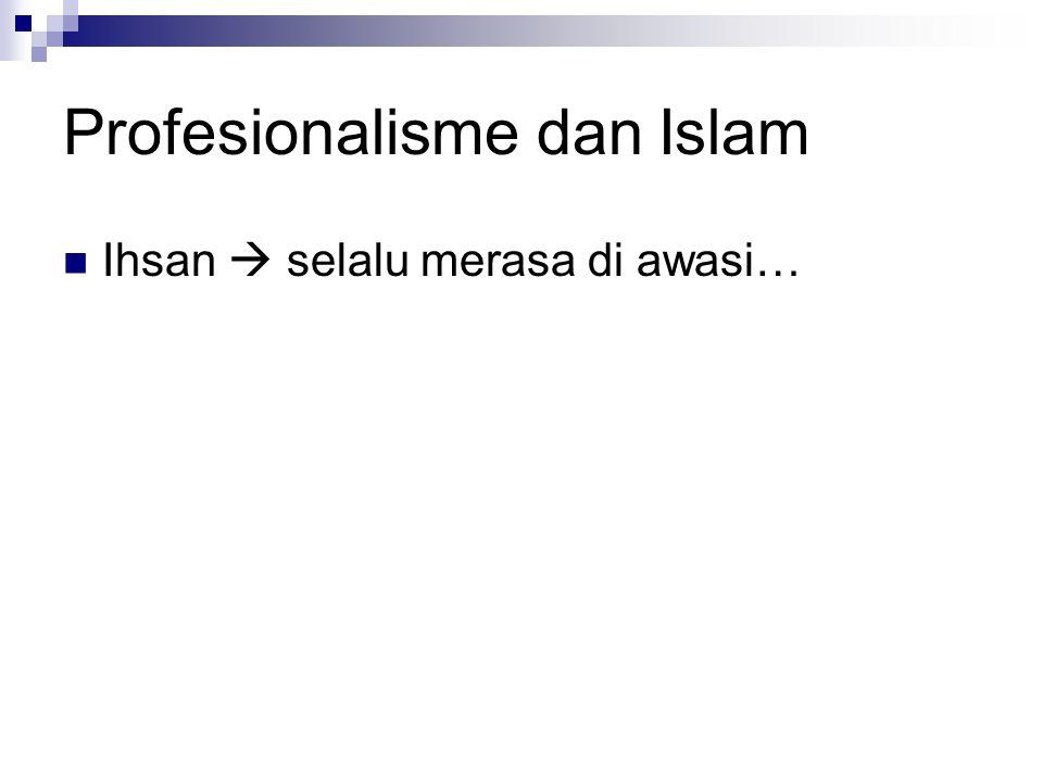 Profesionalisme dan Islam