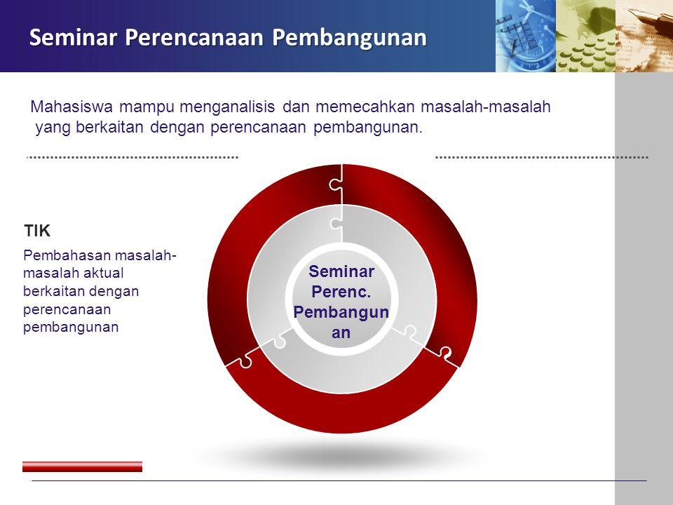 Seminar Perenc. Pembangunan
