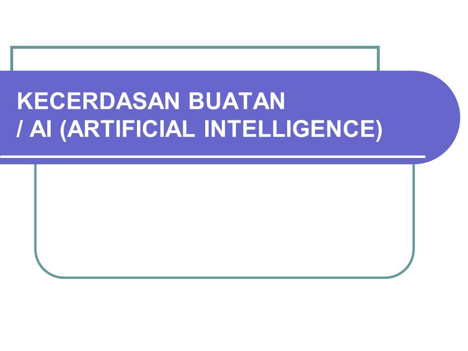 KECERDASAN BUATAN / AI (ARTIFICIAL INTELLIGENCE)