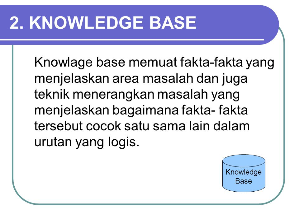 2. KNOWLEDGE BASE