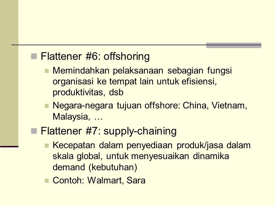 Flattener #6: offshoring