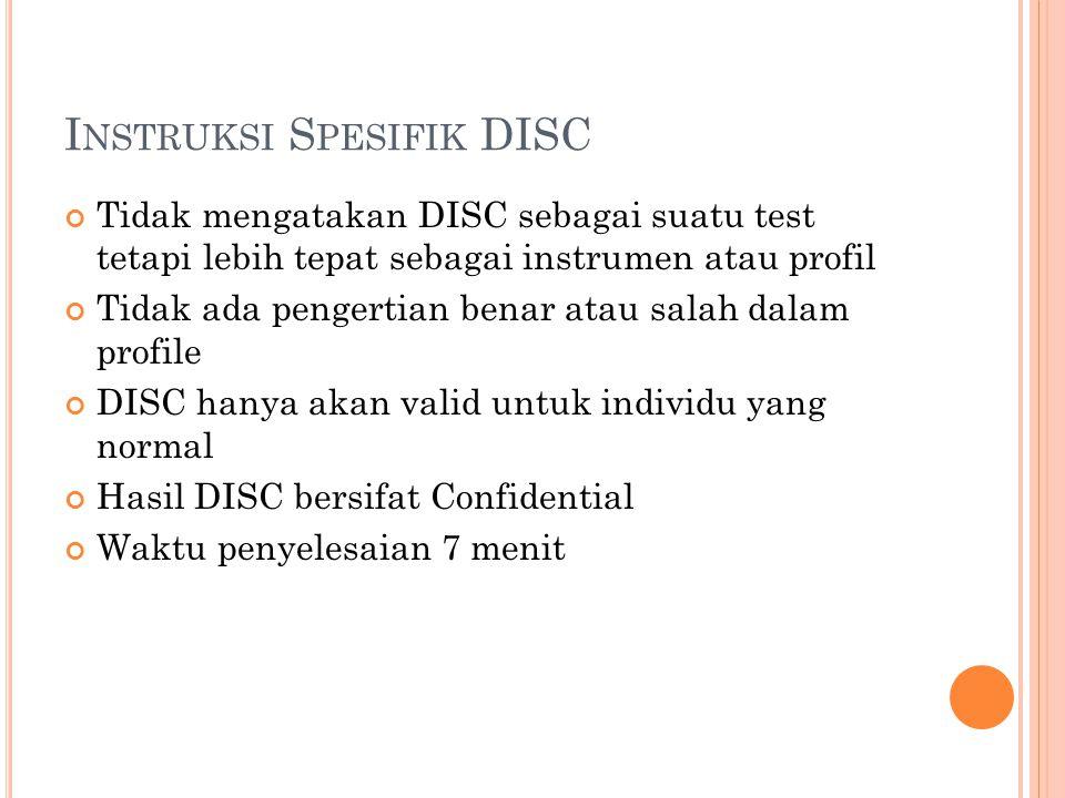 Instruksi Spesifik DISC
