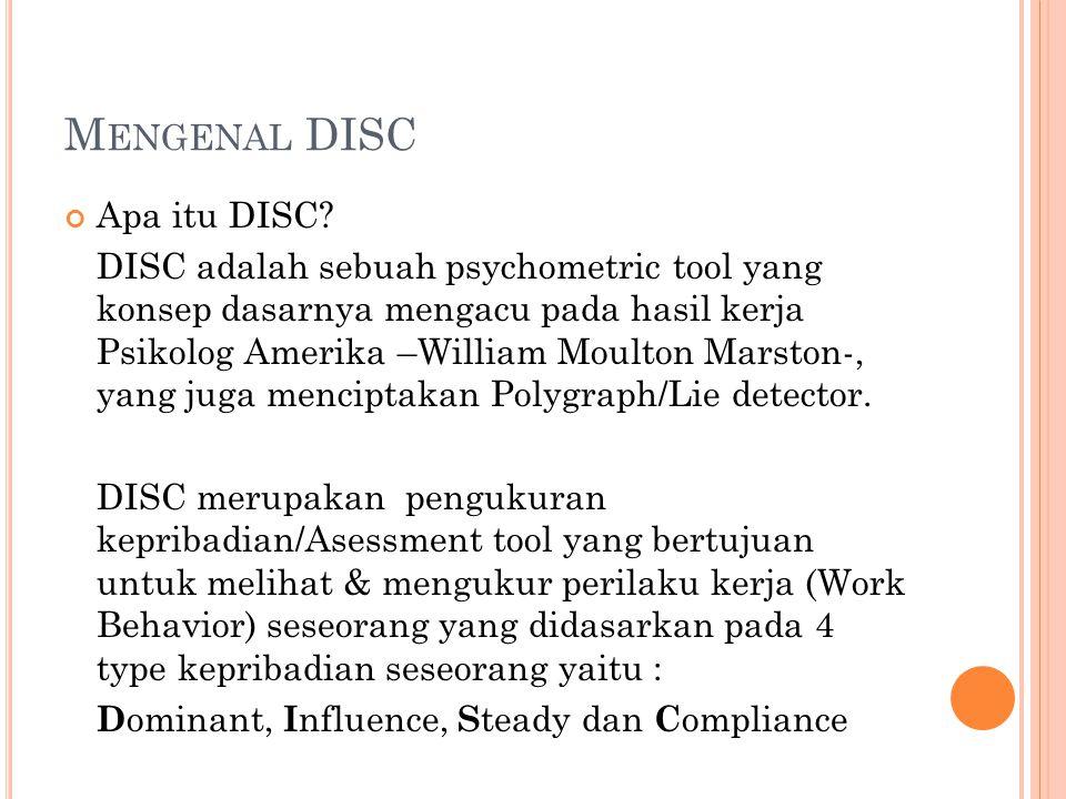 Mengenal DISC Apa itu DISC