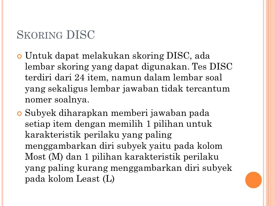 Skoring DISC
