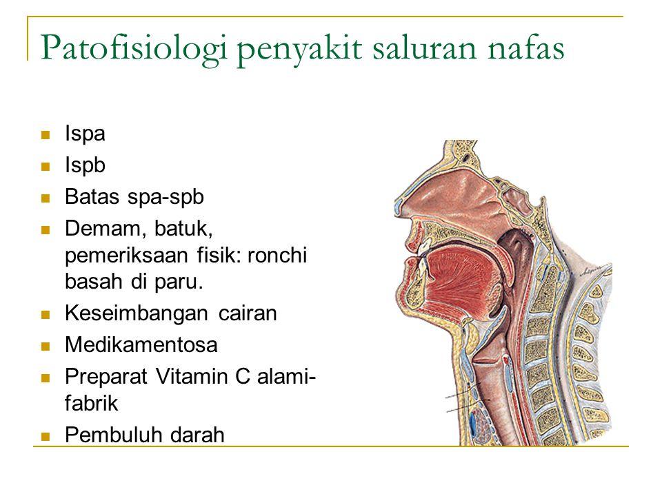 Patofisiologi penyakit saluran nafas