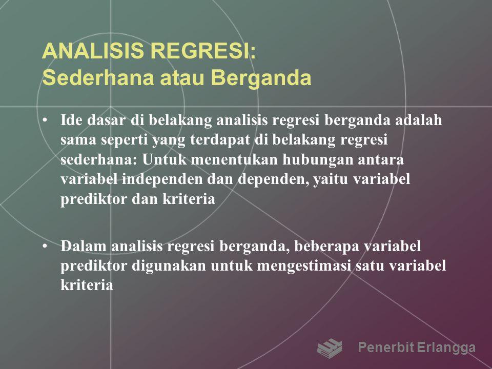 ANALISIS REGRESI: Sederhana atau Berganda