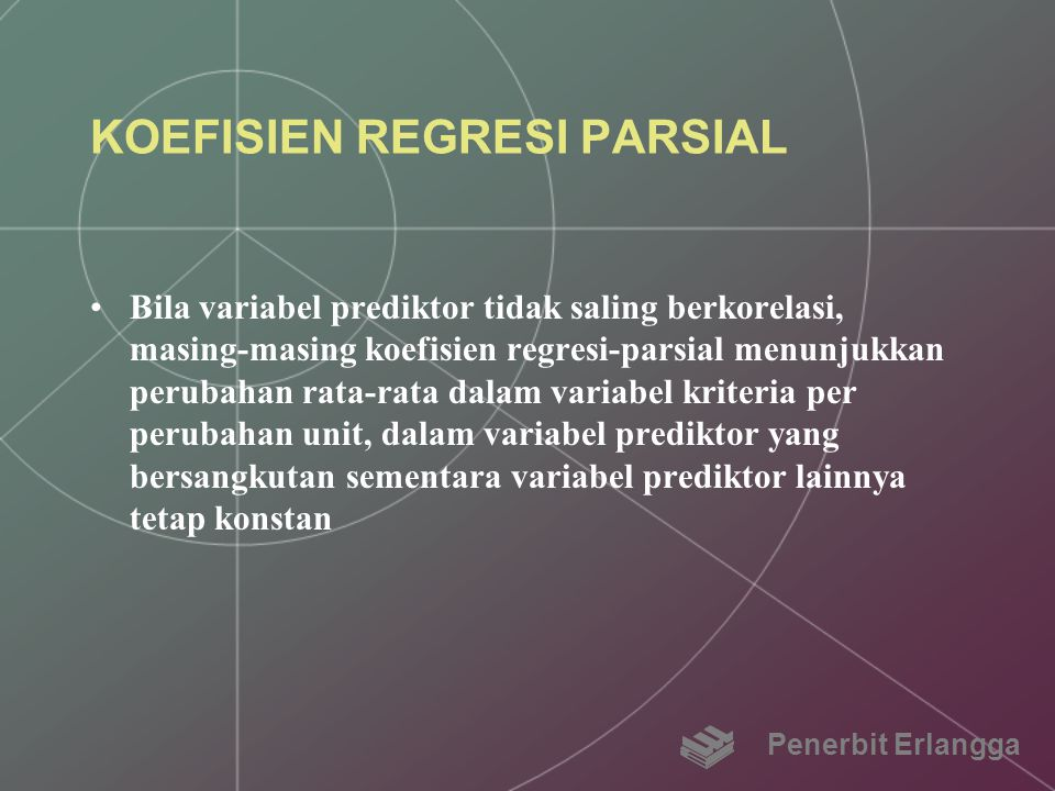 KOEFISIEN REGRESI PARSIAL