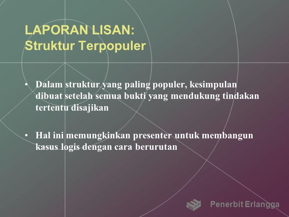 LAPORAN LISAN: Struktur Terpopuler