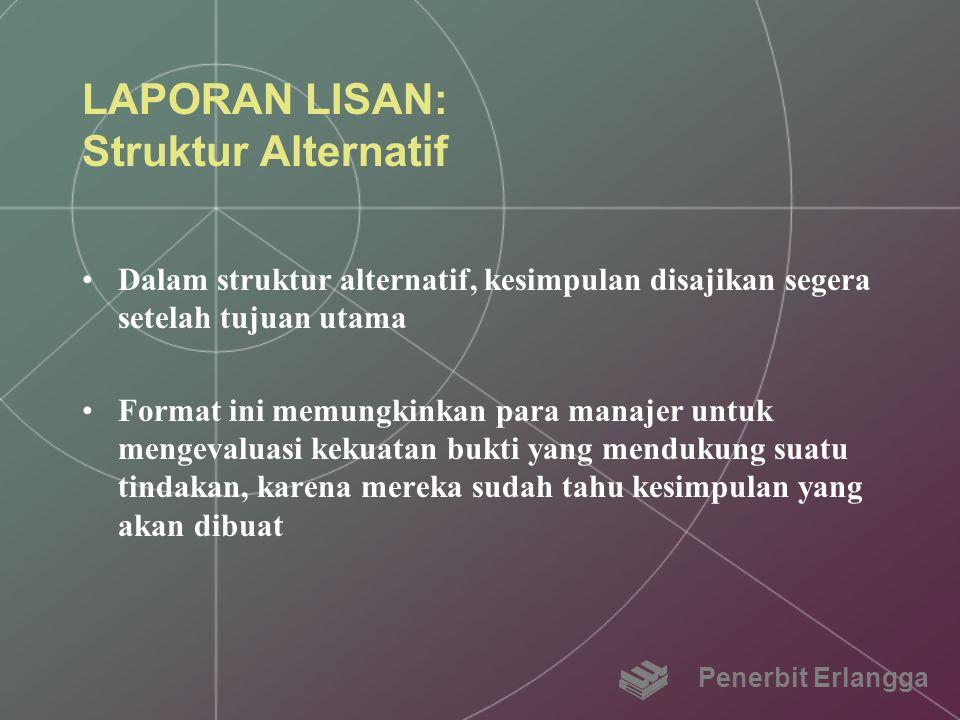 LAPORAN LISAN: Struktur Alternatif