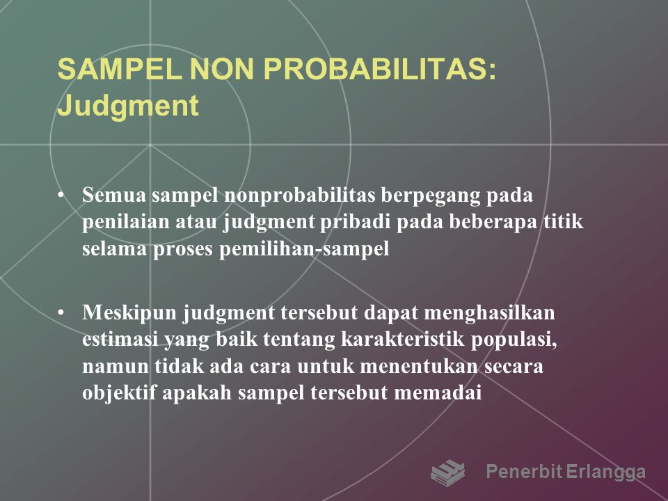 SAMPEL NON PROBABILITAS: Judgment