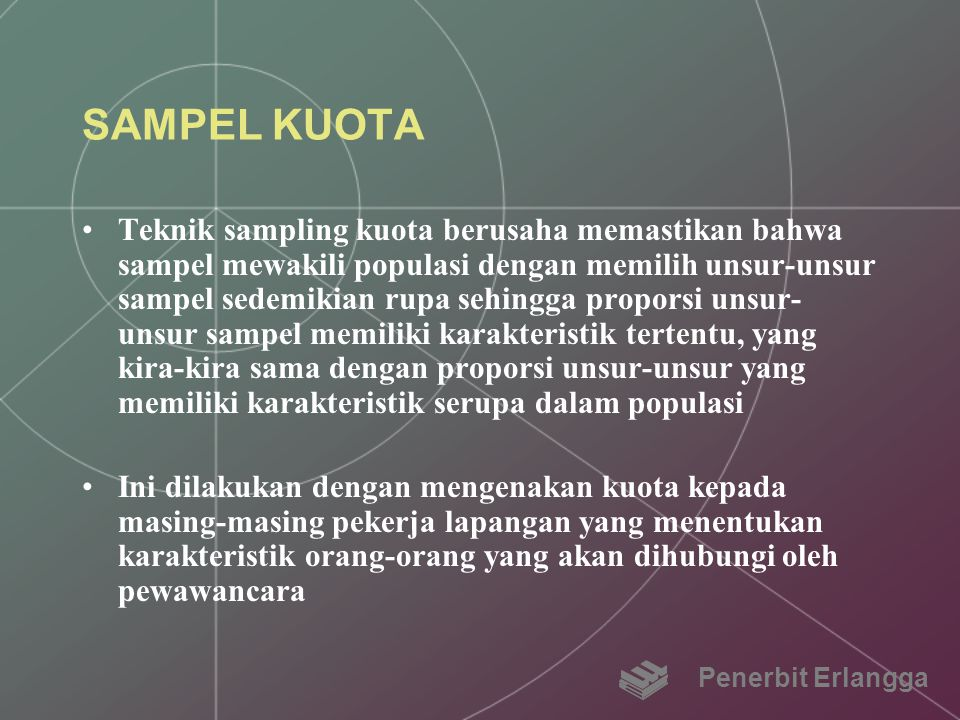 SAMPEL KUOTA