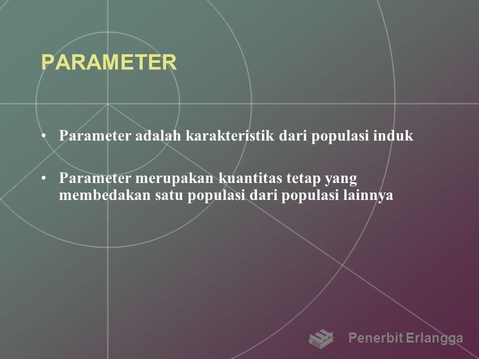 PARAMETER Parameter adalah karakteristik dari populasi induk