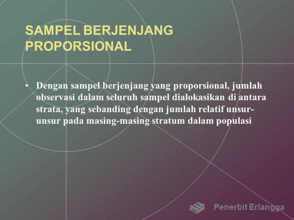 SAMPEL BERJENJANG PROPORSIONAL