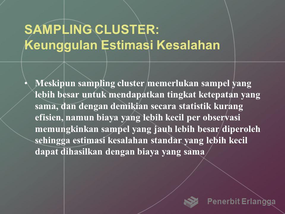 SAMPLING CLUSTER: Keunggulan Estimasi Kesalahan