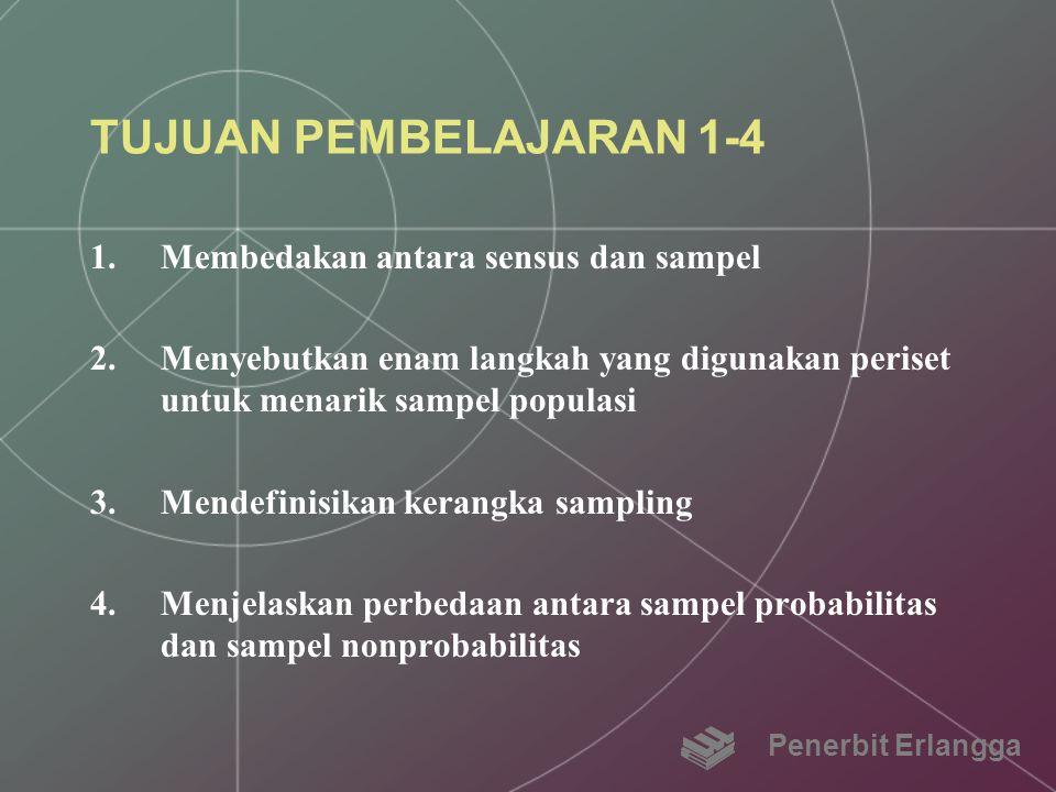 TUJUAN PEMBELAJARAN 1-4 Membedakan antara sensus dan sampel