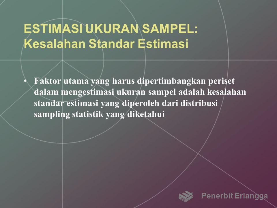 ESTIMASI UKURAN SAMPEL: Kesalahan Standar Estimasi