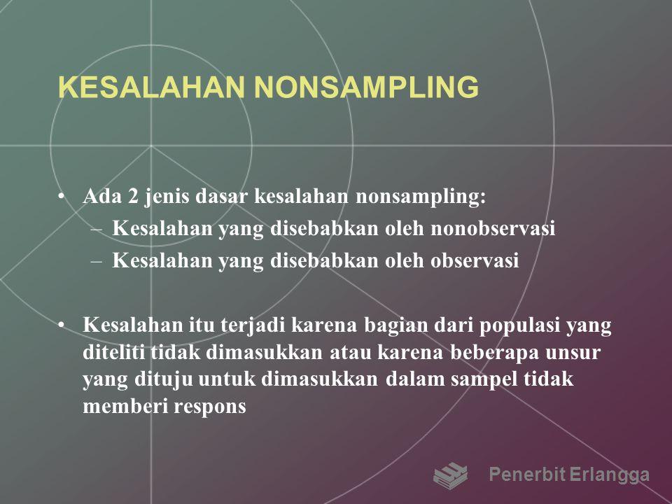KESALAHAN NONSAMPLING