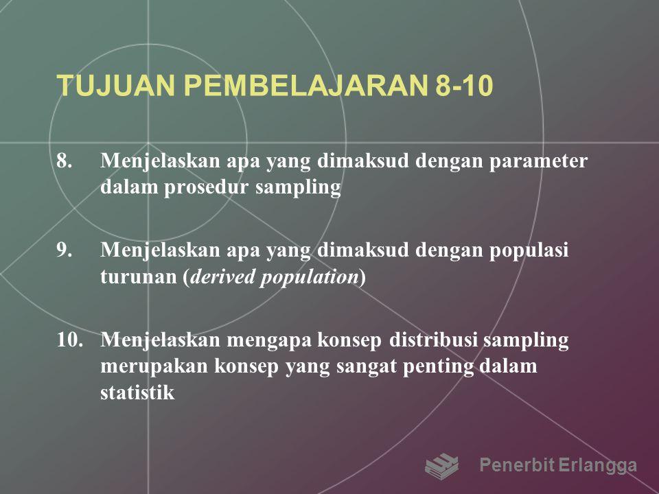 TUJUAN PEMBELAJARAN 8-10 Menjelaskan apa yang dimaksud dengan parameter dalam prosedur sampling.