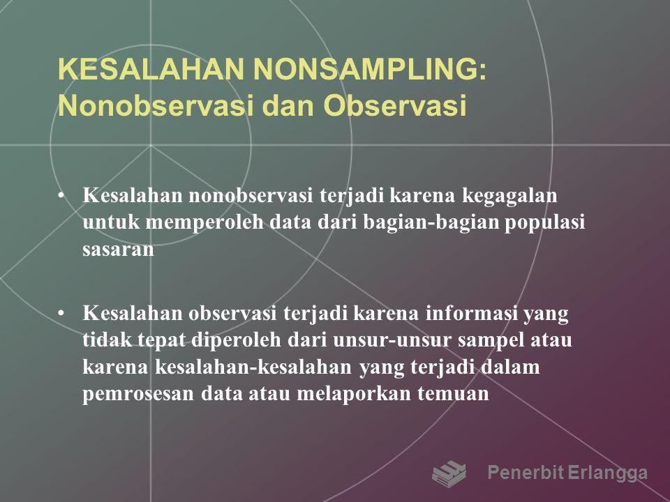 KESALAHAN NONSAMPLING: Nonobservasi dan Observasi