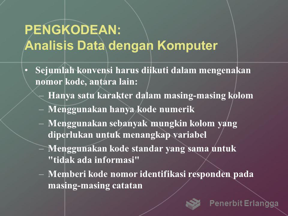 PENGKODEAN: Analisis Data dengan Komputer