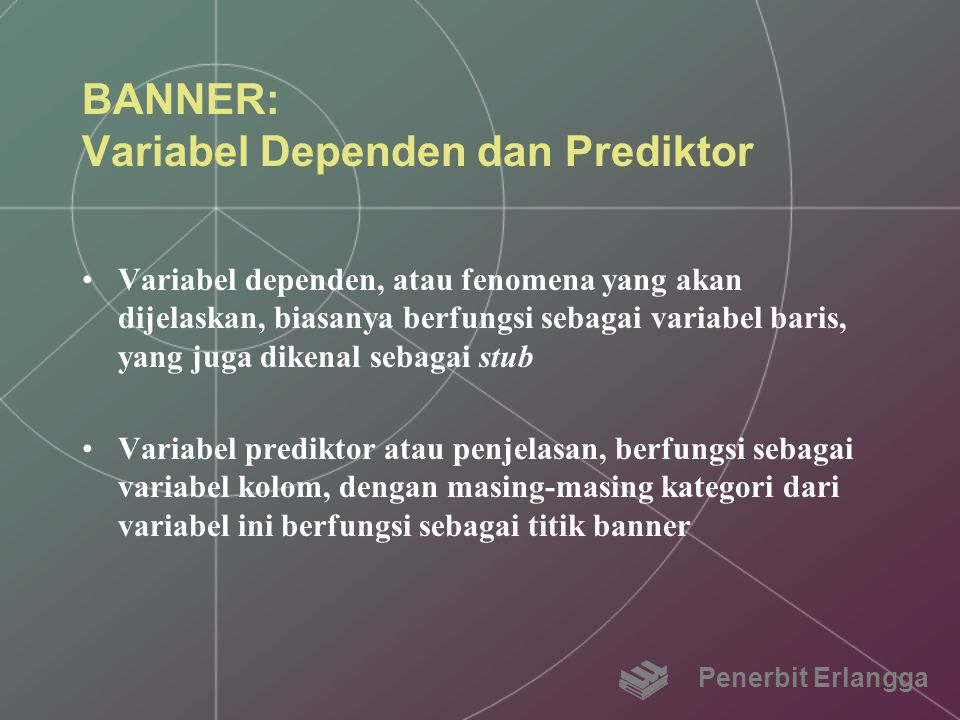 BANNER: Variabel Dependen dan Prediktor
