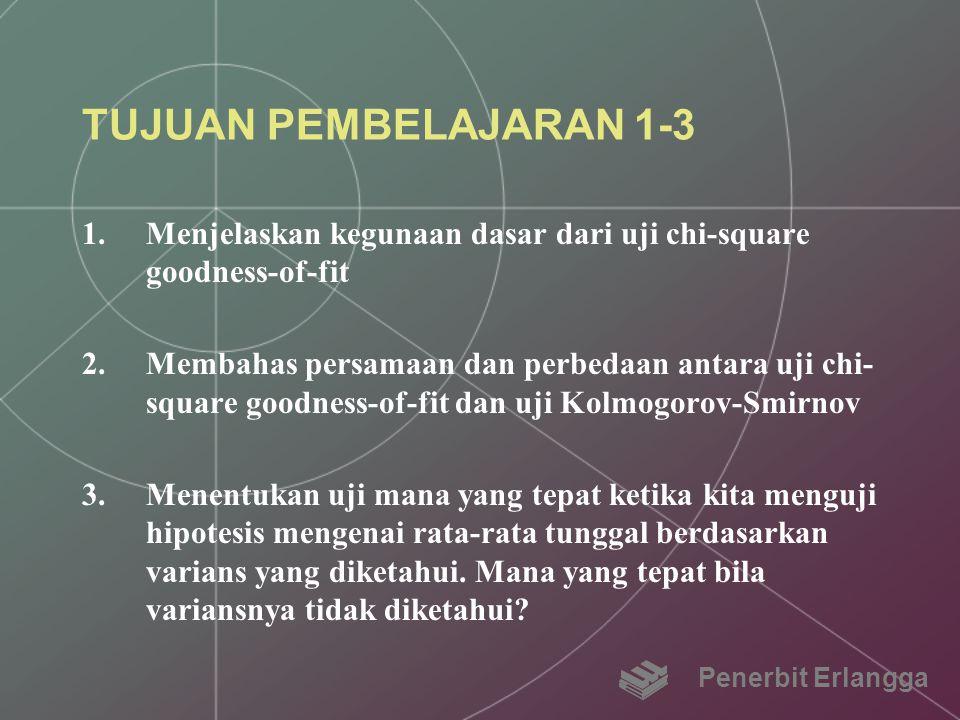 TUJUAN PEMBELAJARAN 1-3 Menjelaskan kegunaan dasar dari uji chi-square goodness-of-fit.