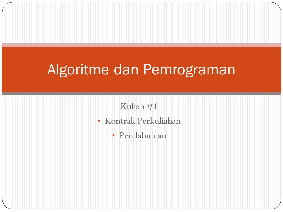Algoritme dan Pemrograman