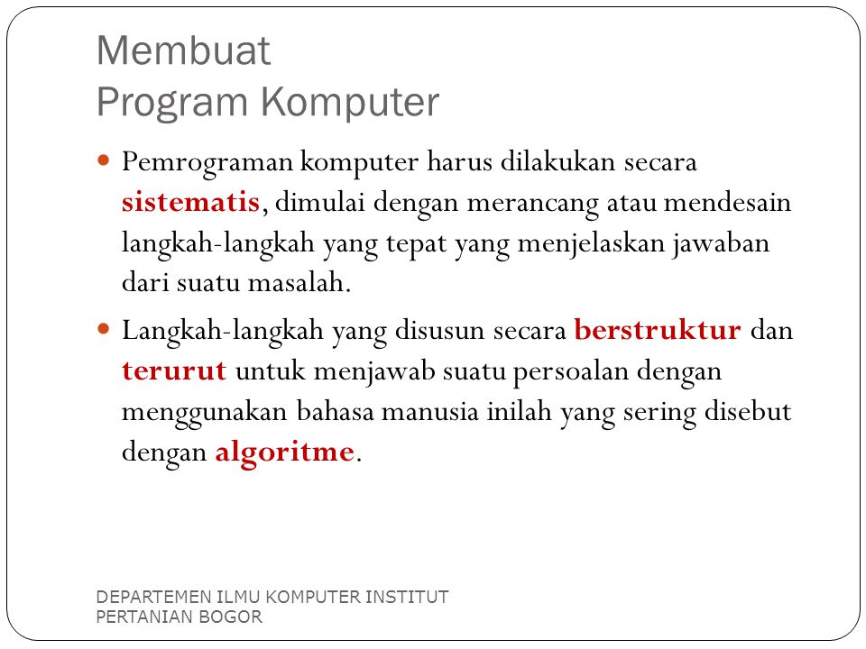 Membuat Program Komputer