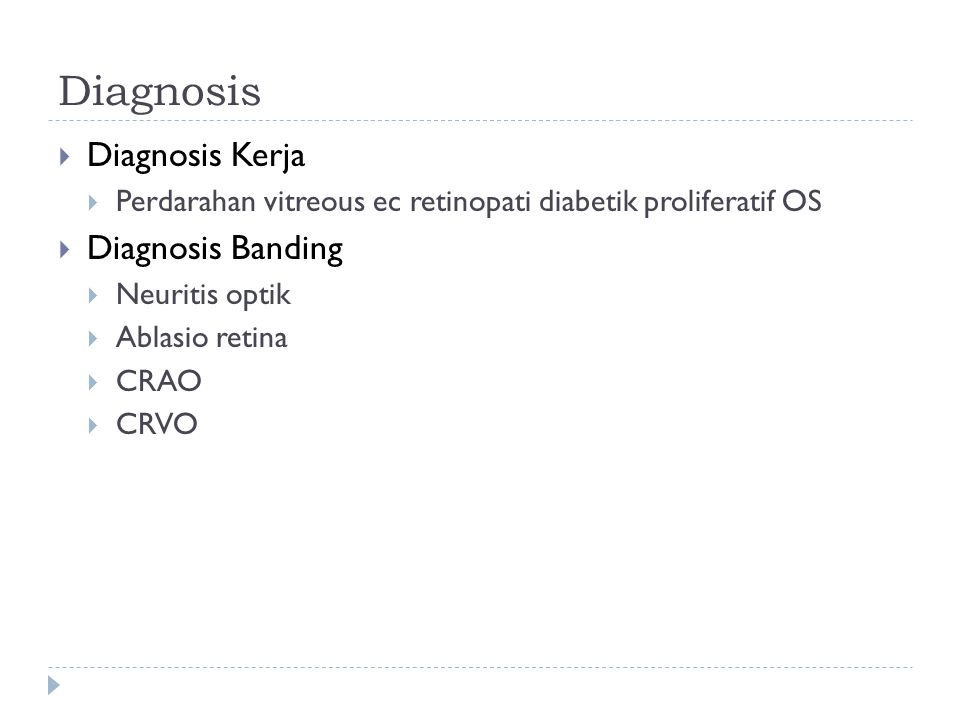 Diagnosis Diagnosis Kerja Diagnosis Banding