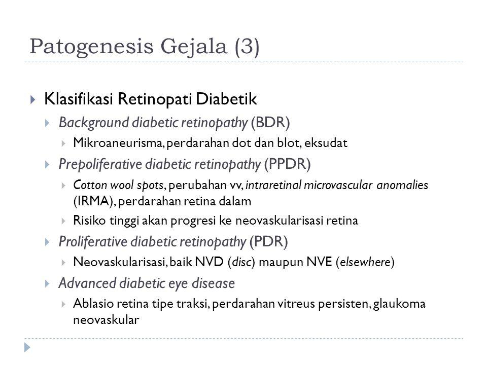Patogenesis Gejala (3) Klasifikasi Retinopati Diabetik