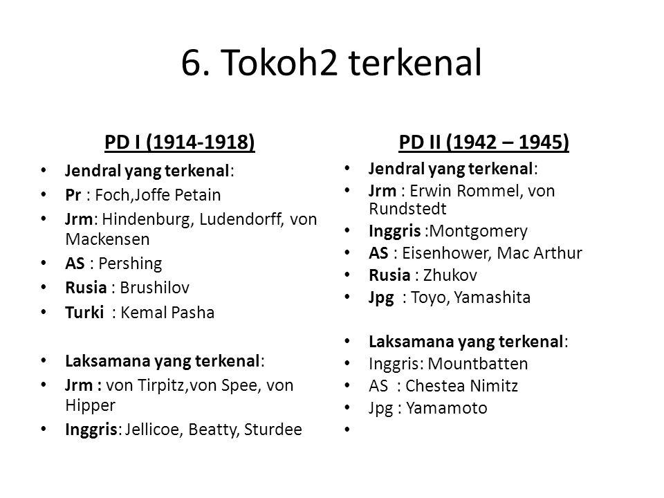 6. Tokoh2 terkenal PD I (1914-1918) PD II (1942 – 1945)