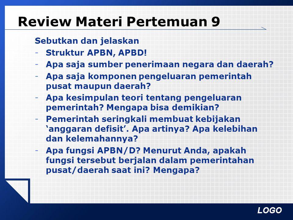 Review Materi Pertemuan 9