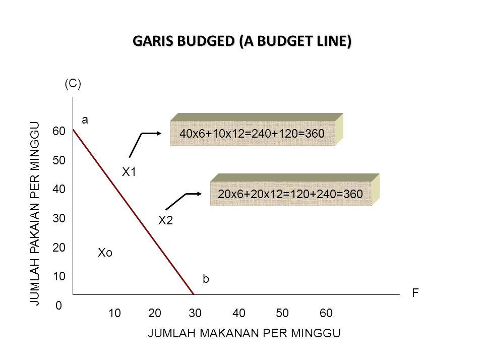 GARIS BUDGED (A BUDGET LINE)
