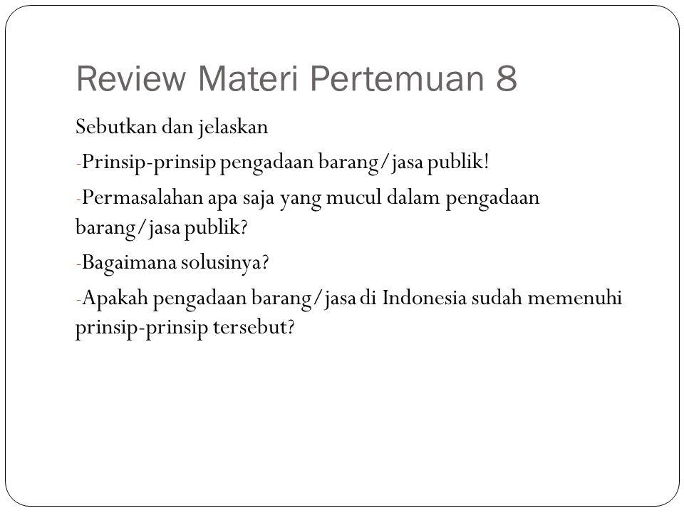 Review Materi Pertemuan 8